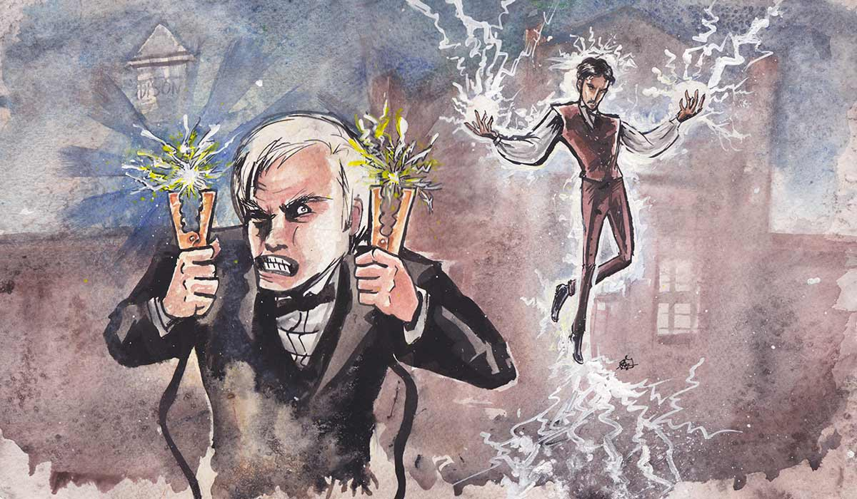 a history of thomas alva edison and tesla At the heart of the story are thomas alva edison empires of light is the gripping history of electricity empires of light: edison, tesla.